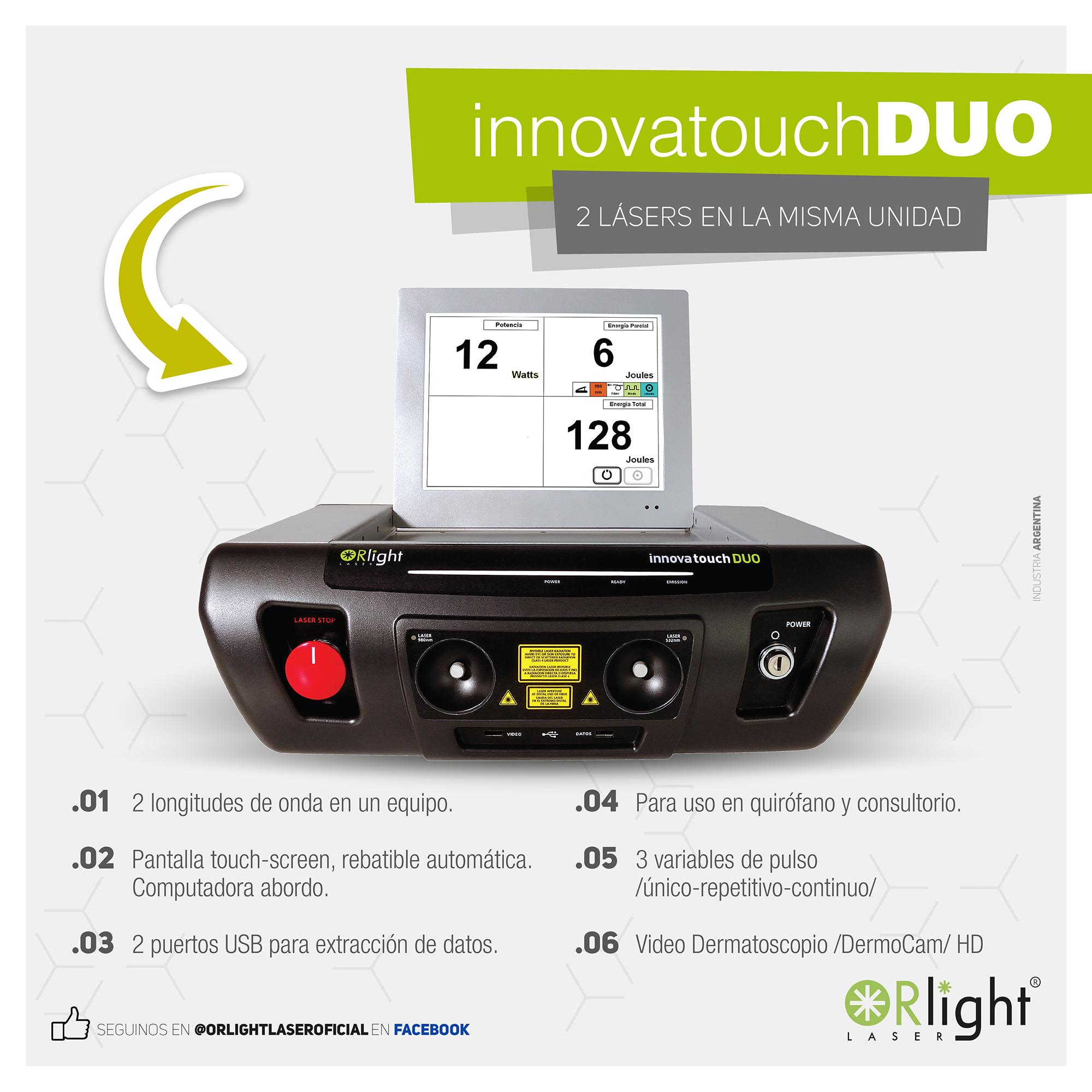 Innova Touch DUO - Prestaciones