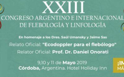 XXIII Congreso Argentino Internacional de Flebología y Linfología – Córdoba, Argentina